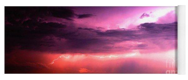 Purple Lightning Panorama Yoga Mat