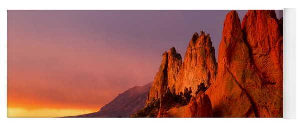 Purple Morning At Garden Of The Gods Yoga Mat