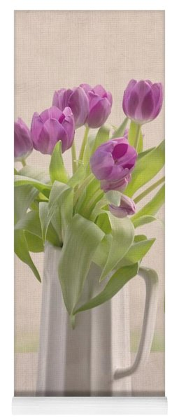 Purple Spring Tulips Yoga Mat