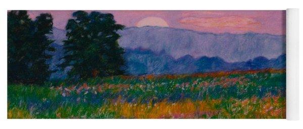 Purple Sunset On The Blue Ridge Yoga Mat