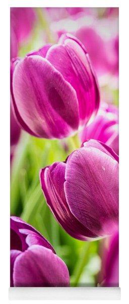 Purple Tulip Garden Yoga Mat