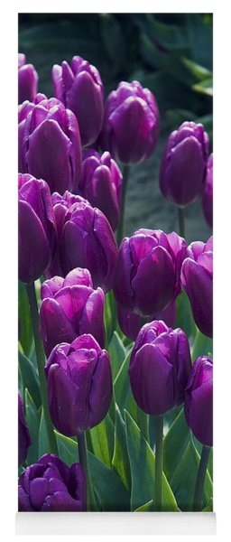 Purple Tulips Yoga Mat