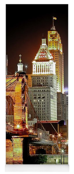 Queen City At Night Yoga Mat