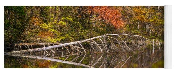 Quiet Waters In Autumn Yoga Mat