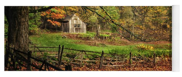 Rustic Shack- New England Autumn  Yoga Mat