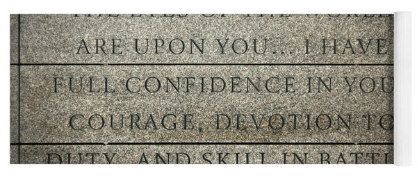Quote Of Eisenhower In Normandy American Cemetery And Memorial Yoga Mat