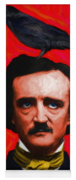 Quoth The Raven Nevermore - Edgar Allan Poe - Painterly - Red - Standard Size Yoga Mat