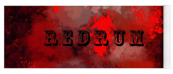 R E D R U M - Featured In Visions Of The Night Group Yoga Mat