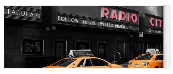 Radio City Music Hall And Taxis In New York City Yoga Mat