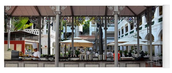 Raffles Hotel Courtyard Bar And Restaurant Singapore Yoga Mat