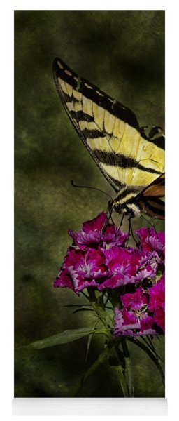 Yoga Mat featuring the photograph Ragged Wings by Belinda Greb