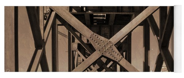 Railroad Trestle Sepia Yoga Mat