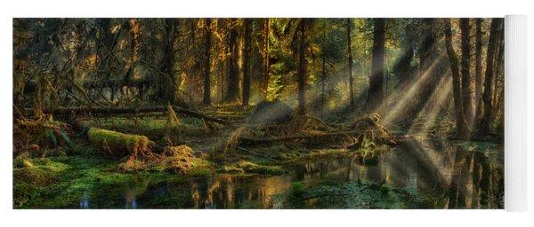 Rain Forest Sunbeams Yoga Mat