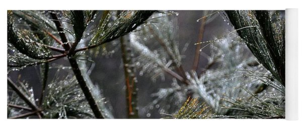 Rain On Pine Needles Yoga Mat