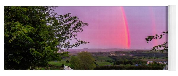 Rainbow At Sunset In County Clare Yoga Mat