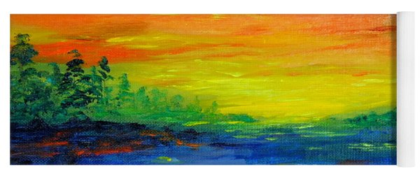 Rainbow Back Waters Yoga Mat