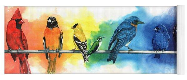 Rainbow Birds Yoga Mat