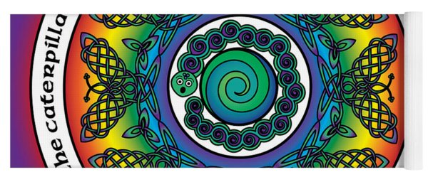 Rainbow Celtic Butterfly Mandala Yoga Mat