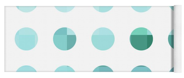 Rainbow Dots Aqua  Yoga Mat