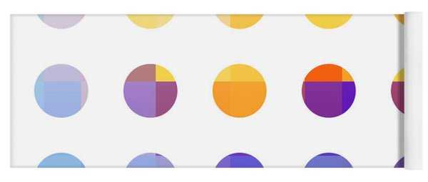Rainbow Dots  Yoga Mat