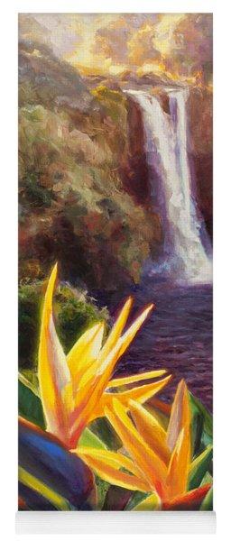 Rainbow Falls Big Island Hawaii Waterfall  Yoga Mat