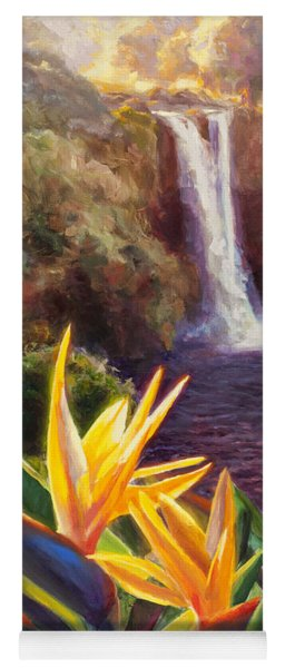 Rainbow Falls Big Island Hawaii Waterfall  Yoga Mat