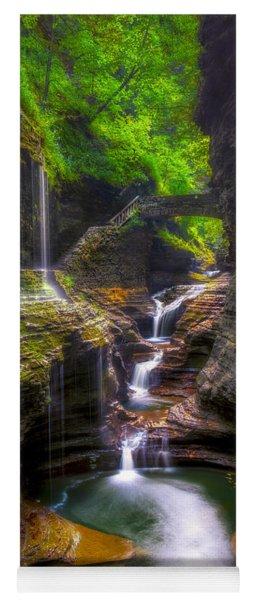 Rainbow Falls Of Watkins Glen Yoga Mat