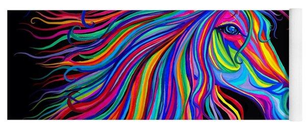 Rainbow Horse Too Yoga Mat