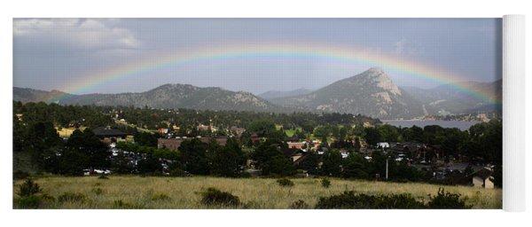 Rainbow Over Lake Estes Yoga Mat