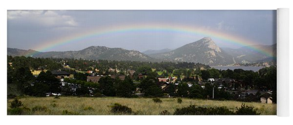 Rainbow Over Lake Estes Yoga Mat