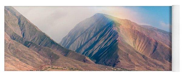 Rainbow Over Maui Mountains   Yoga Mat