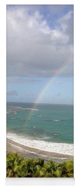 Rainbow Over Palms Yoga Mat