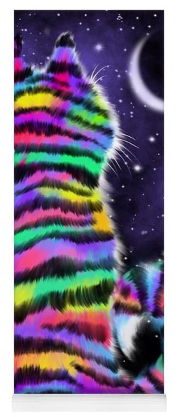 Rainbow Tiger Cat Yoga Mat