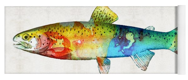 Rainbow Trout Art By Sharon Cummings Yoga Mat