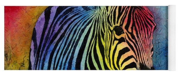 Rainbow Zebra Yoga Mat