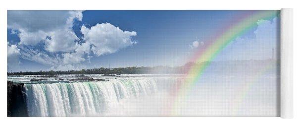 Rainbows At Niagara Falls Yoga Mat