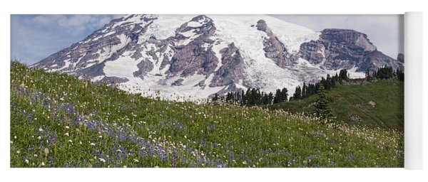 Rainier's Wildflowers Yoga Mat