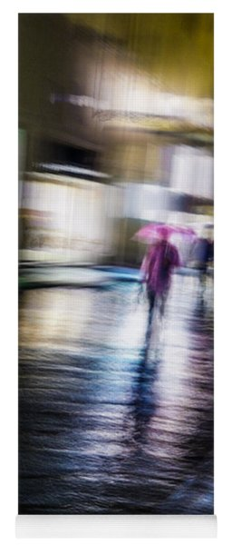 Rainy Streets Yoga Mat