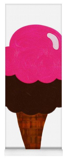 Raspberry And Chocolate Ice Cream Cone  Yoga Mat