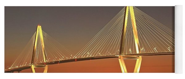 Ravenel Bridge At Dusk Yoga Mat
