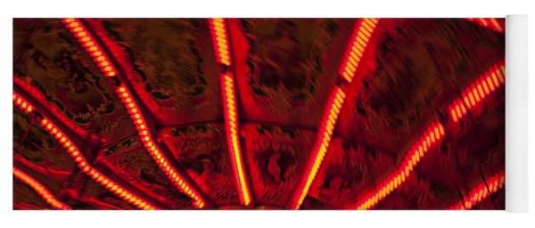Red Abstract Carnival Lights Yoga Mat