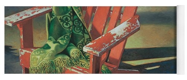 Red Adirondack Chair Yoga Mat