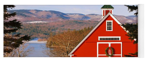 Red Barn On Newfound Lake Yoga Mat