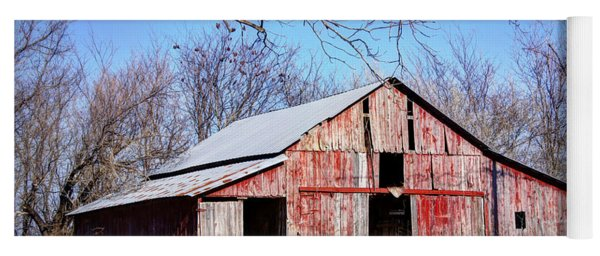Red Barn On The Hill Yoga Mat
