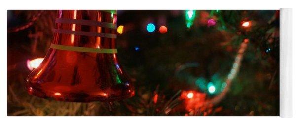 Red Christmas Bell Yoga Mat