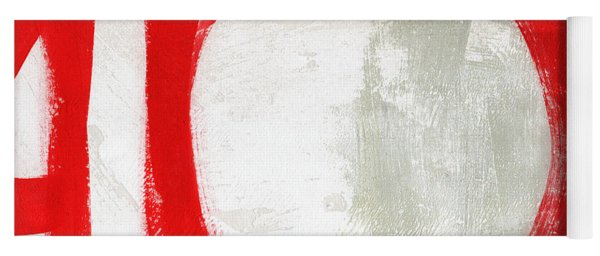 Red Circle 3- Abstract Painting Yoga Mat