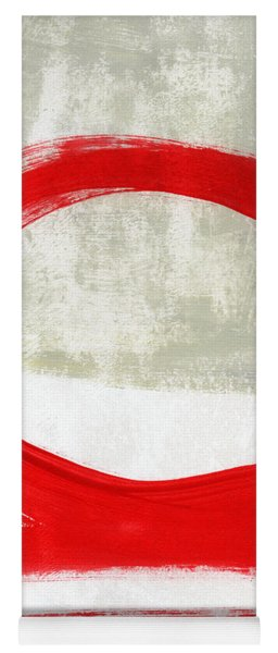 Red Circle 4- Abstract Painting Yoga Mat