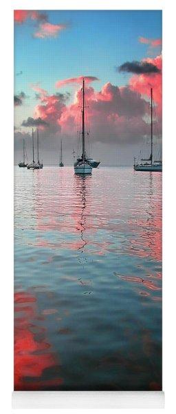 Red Clouds Yoga Mat