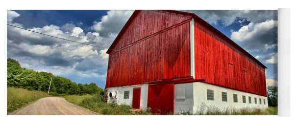 Red Country Barn Yoga Mat