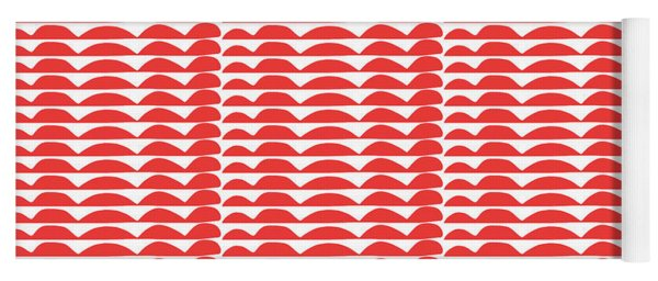 Red Cut Outs- Abstract Pattern Art Yoga Mat